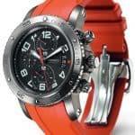 Hermès Clipper Chronograph 44mm Titanium Watch