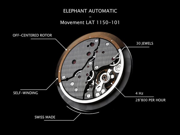 Elephant Automatic by Cacheux Watches 6