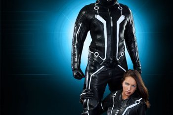 Limited edition TRON motorcycle suits