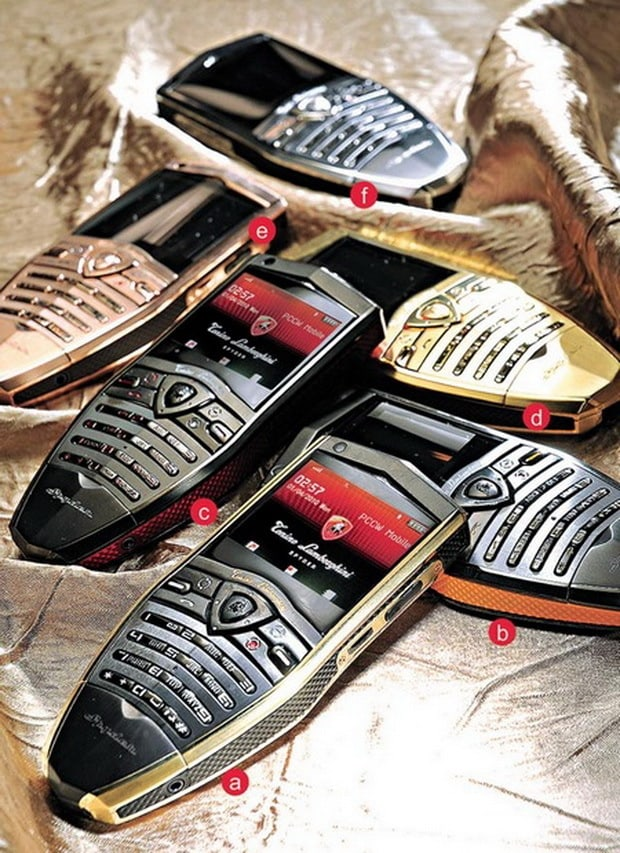 Tonino Lamborghini Spyder phones