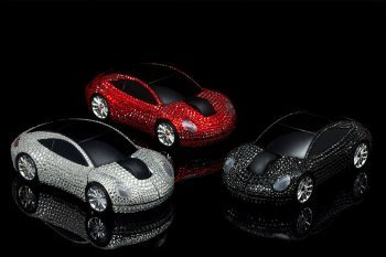 Goldgenie Swarovski Wireless Mouse