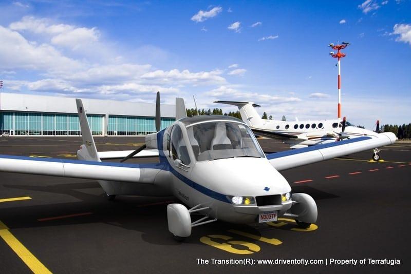 The Transition Terrafugia S Flying Car On The Roads