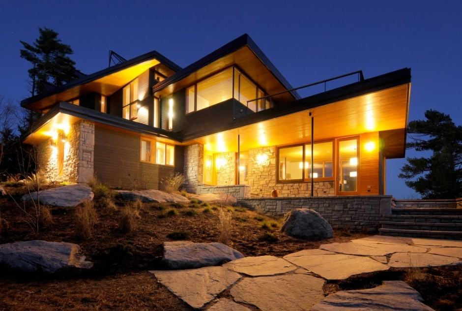 An Elegant And Sustainable Florida Home With Fantastic Views: Cliff House In Muskoka Lakes, Ontario, Canada