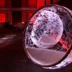 LED illuminated Bubble Chairs by Rousseau 1