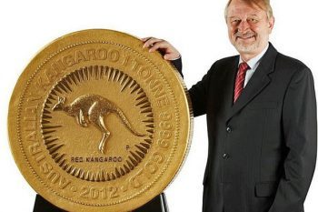 1 Tonne Gold Kangaroo Coin 1