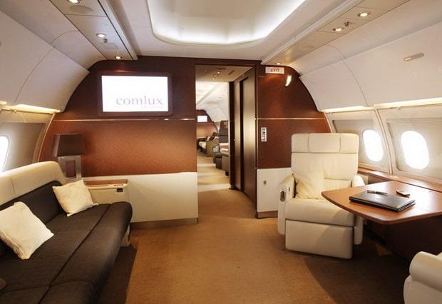 Comlux unveils airbus a320 prestige interior for Interieur 747 cargo