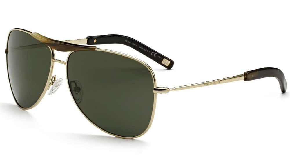25ce5f58f48e8 Giorgio Armani 22-karat gold aviator sunglasses
