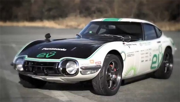 Classic Toyota 2000GT Solarpowered Electric Car