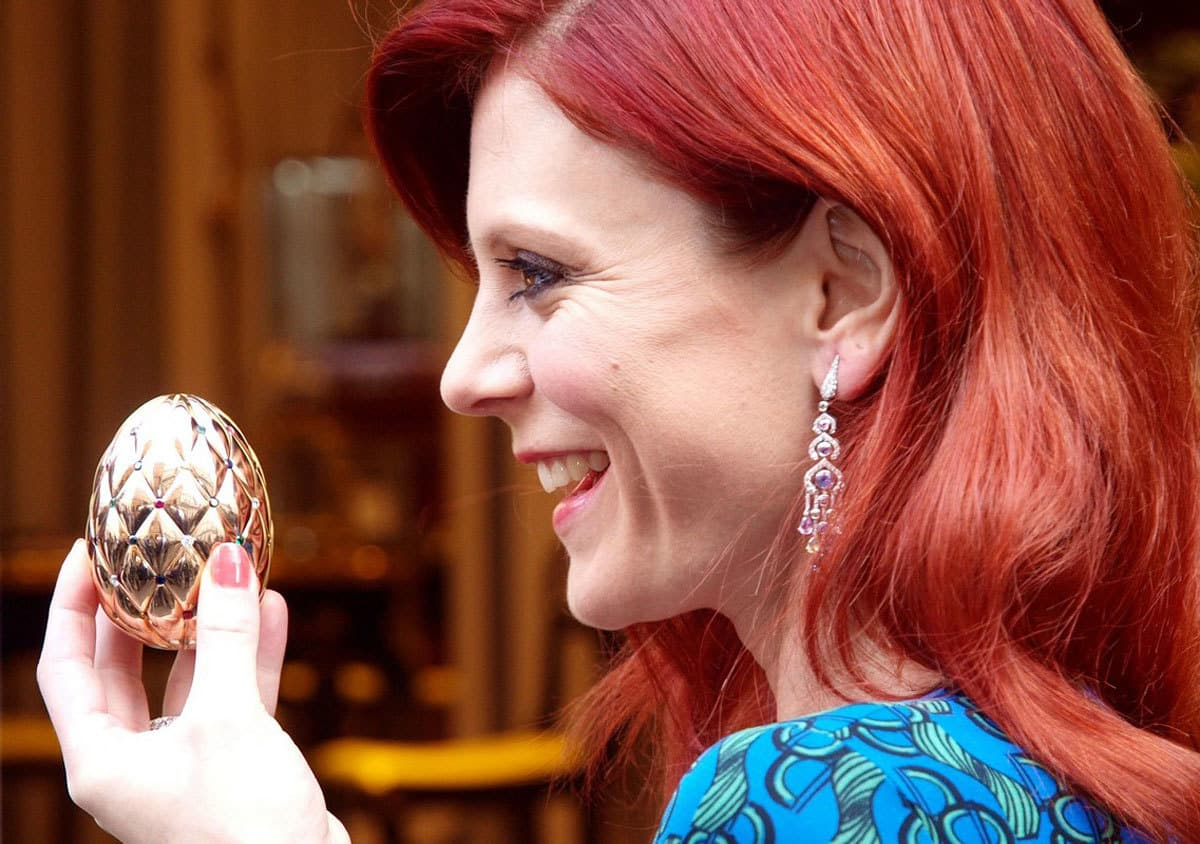 Diamond Jubilee Faberge Egg and Emila Fox 3