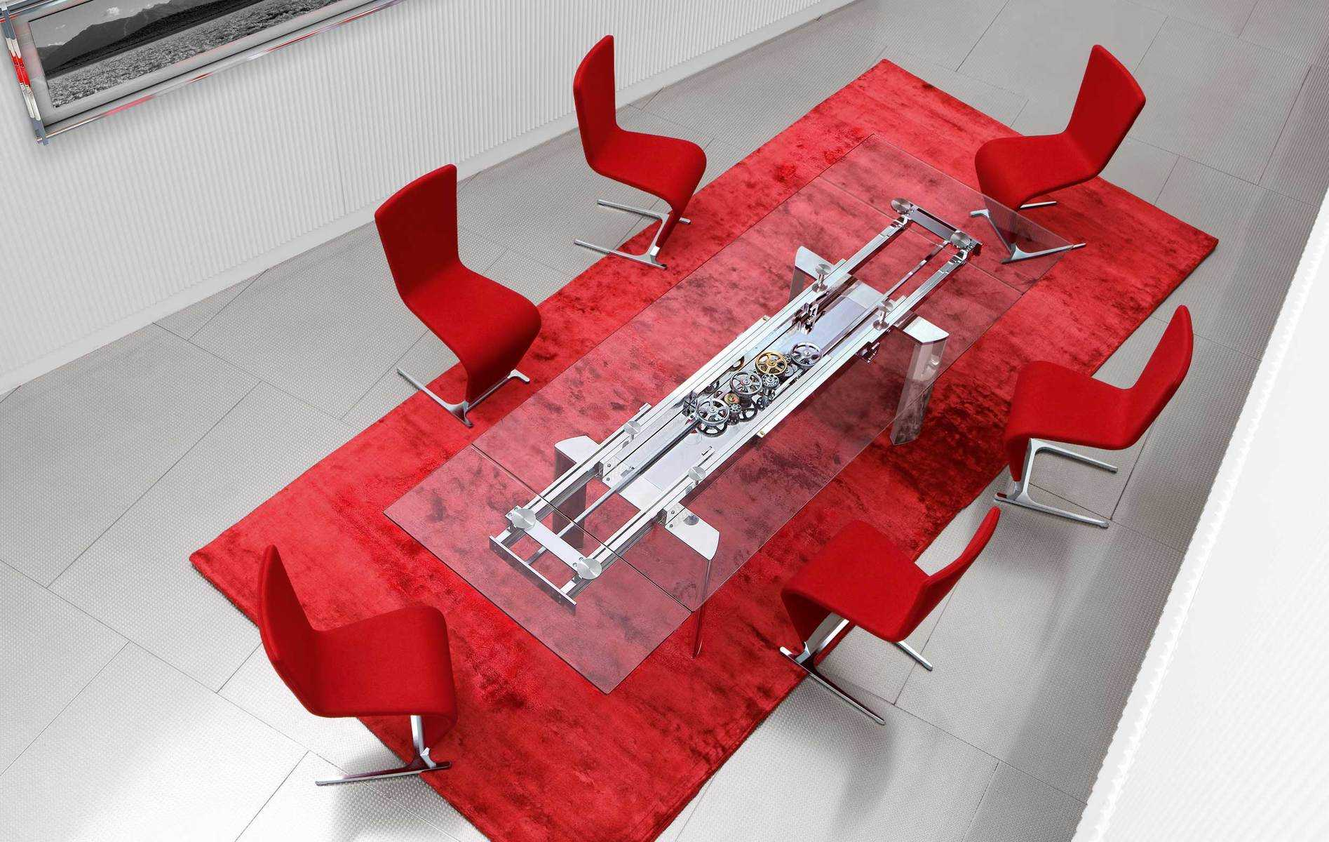 astrolab extendable dining table by roche bobois. Black Bedroom Furniture Sets. Home Design Ideas