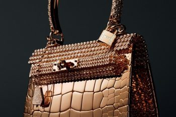 Diamond-studded Hermes Birkin Handbag