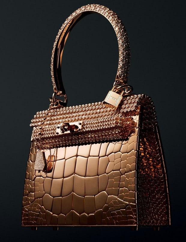 Diamond-studded Hermes Birkin Handbag