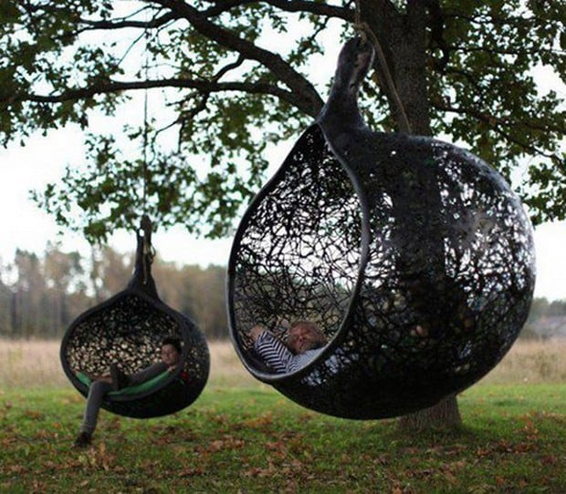 Hanging Chair Made Of Volcanic Rock By Maffam Freeform