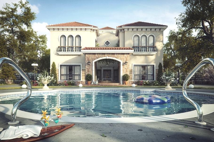 Tuscan inspired luxury villa in dubai uae - Uae home design ...