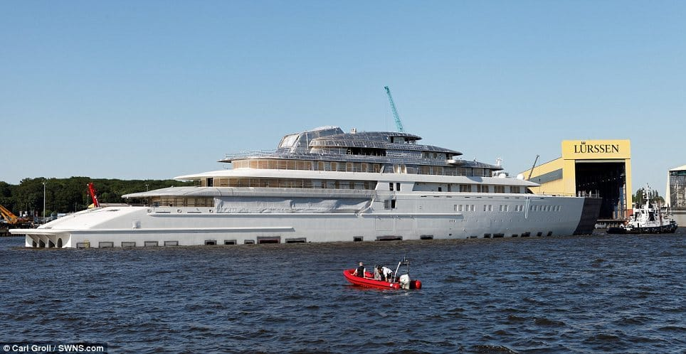 World's largest yacht, Project Azzam, spied in Germany