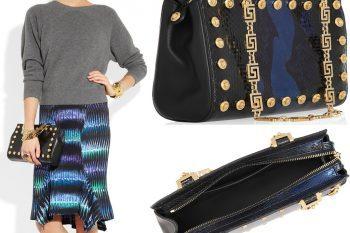 Versace python shoulder bag 1