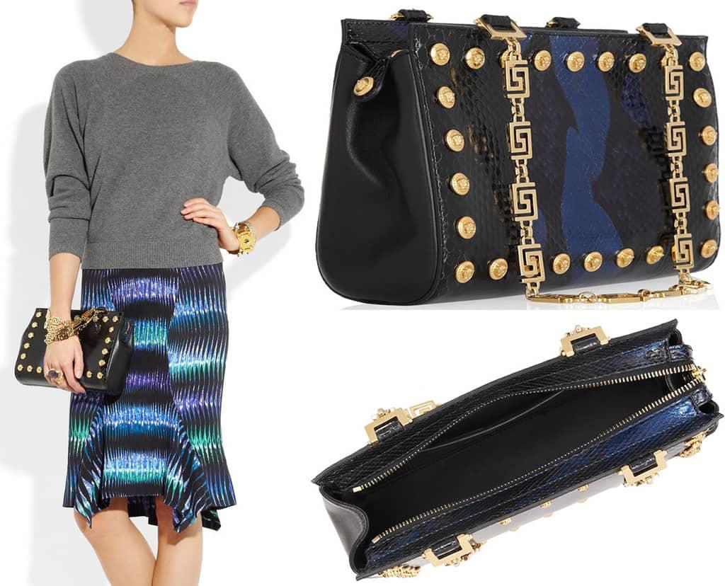 71180fa9ea Versace python shoulder bag is priced at  2