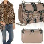 Valentino crystal-studded leather shoulder bag 1