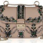 Valentino crystal-studded leather shoulder bag 2