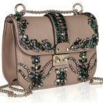 Valentino crystal-studded leather shoulder bag 3