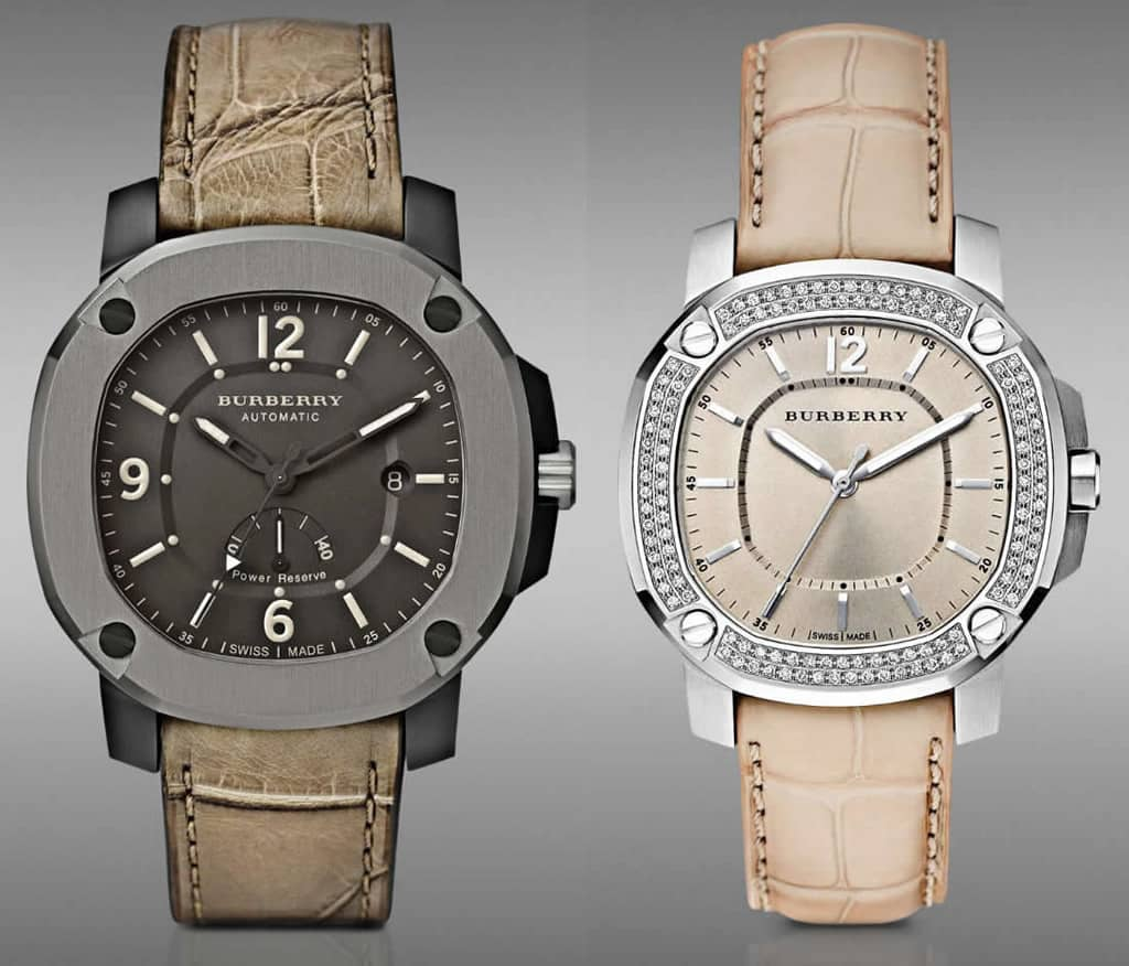 Burberry unveiled the Britain watch collection