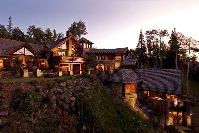 Castlewood manor in the rocky mountains of telluride colorado for Telluride houses for sale