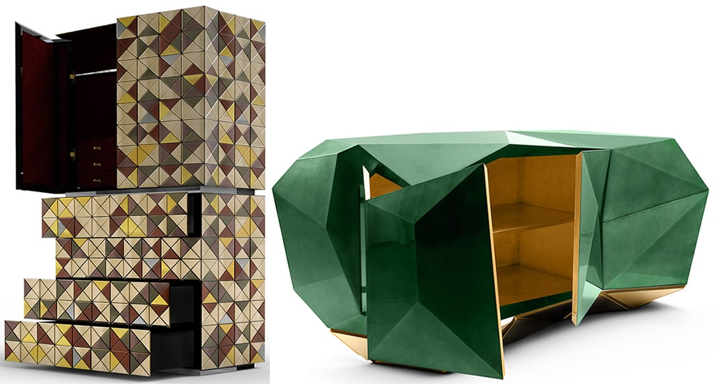 Boca do Lobo Diamond Sideboard and Pixel Cabinet