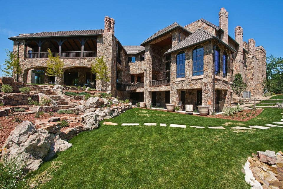 A scottish castle estate in cherry hills village colorado for Most expensive homes in colorado