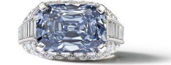 Rare Bulgari Blue Diamond Ring 1