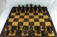 Anglo-Zulu Brass War Chess Set by LittleHand
