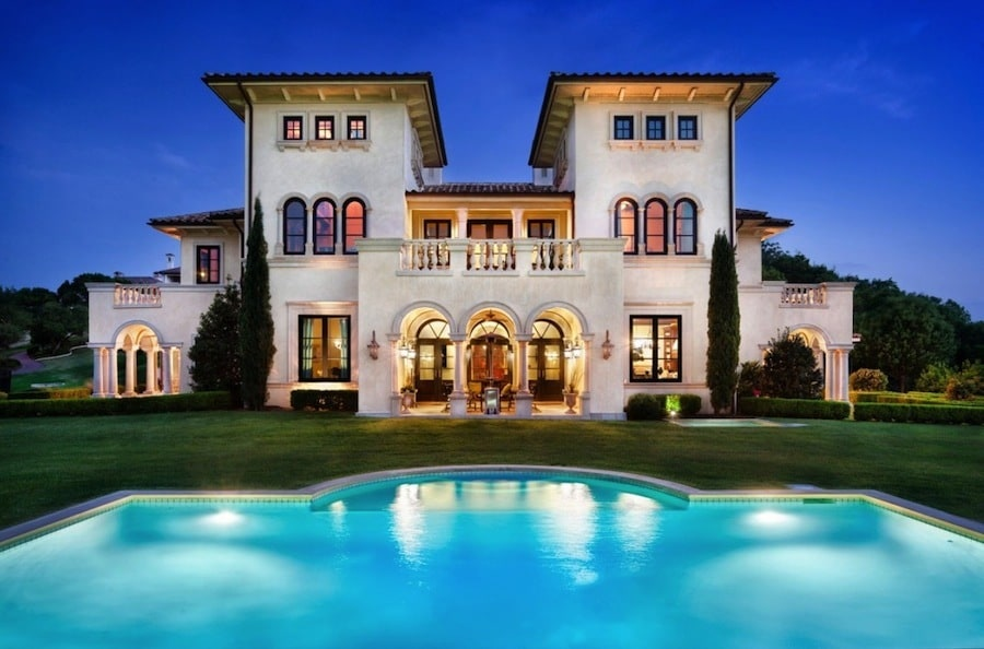 Palatial Italian Manor In Austin Texas