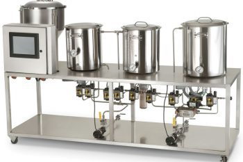 This is an automated brewing system used in professional microbreweries, but scaled for the home brewmeister.