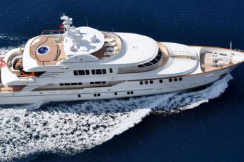Award-Winning Superyacht with Swarovski and Ralph Lauren Interior for Sale at $18 Million