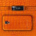 By Atelier launches the limited edition Samsung Galaxy S5 + Gear Fit in orange alligator leather