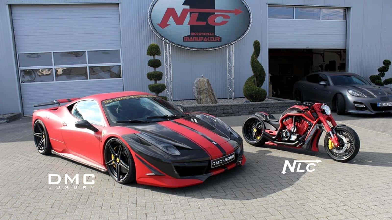 Customized Ferrari 458 Italia And Matching Bike Showcased