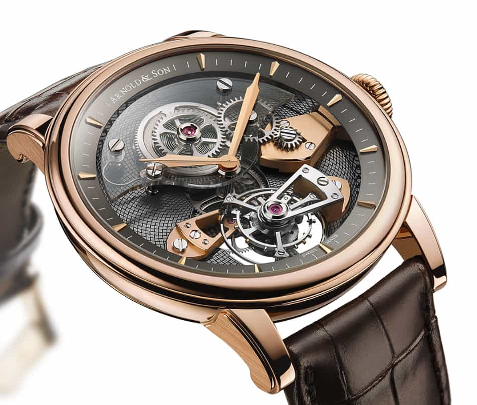 The limited edition tes tourbillon timepiece by arnold son for Orologi svizzeri uomo