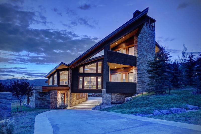 Modern mansion in the picturesque town of park city utah Cost to build a house in utah