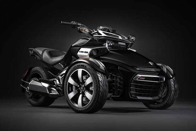 the unique can am spyder f3 three wheeled vehicle. Black Bedroom Furniture Sets. Home Design Ideas