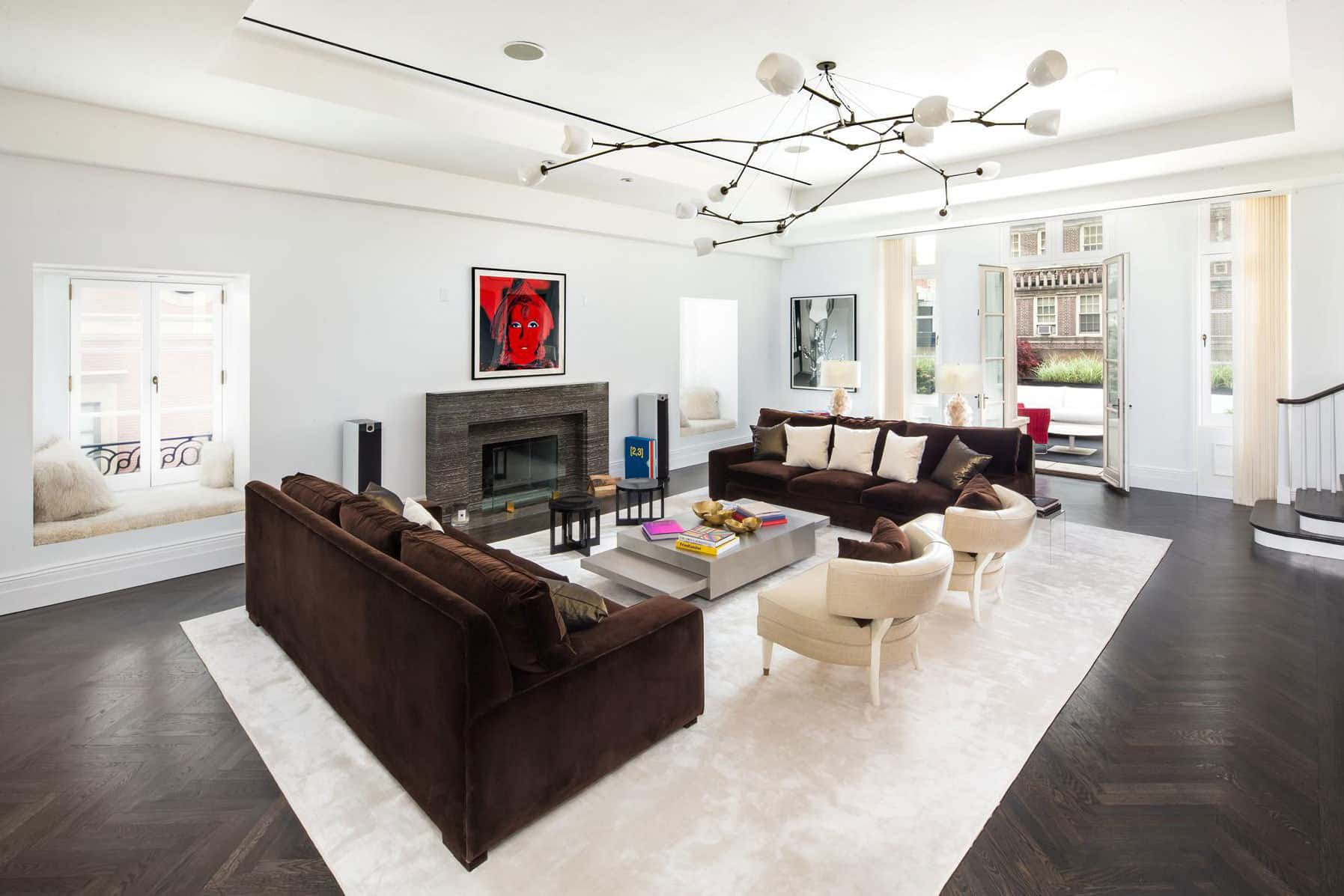 this sumptuous manhattan duplex penthouse is currently for sale for a hefty 34 million