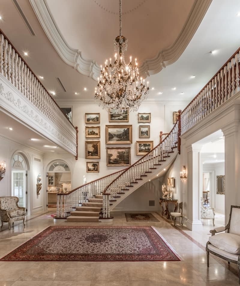 Classic Entrance Halls 10 Best: French Château-Style Mansion In Toronto, Canada