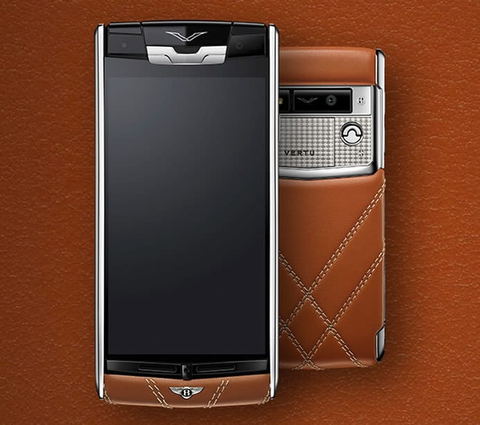 vertu launches luxury smartphone in collaboration with bentley. Black Bedroom Furniture Sets. Home Design Ideas