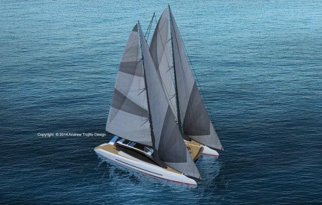 Andrew Trujillos Twin Mast Cruising Catamaran Concept