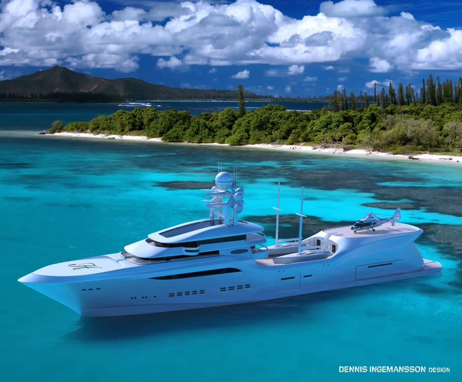 Arctic Sun Is A Magnificent Green 90 Meter Superyacht