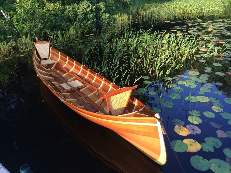 Beautiful handcrafted guideboats from kevlar and cedar for Guide boat