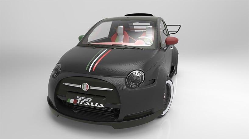Crazy Fast Fiat 550 Italia Powered By Ferrari V8 Engine