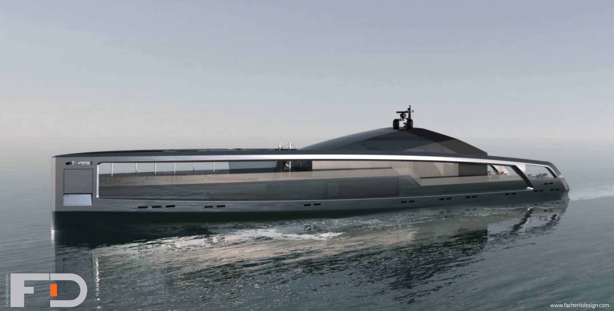 Maximus is a striking yacht concept from facheris design for Maxim design hotel 3 star