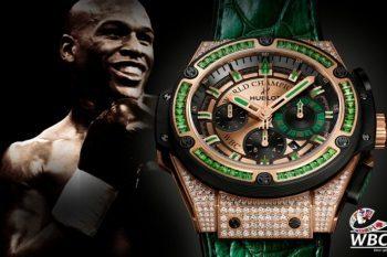 Hublot King Power WBC Full Pavé timepiece 1