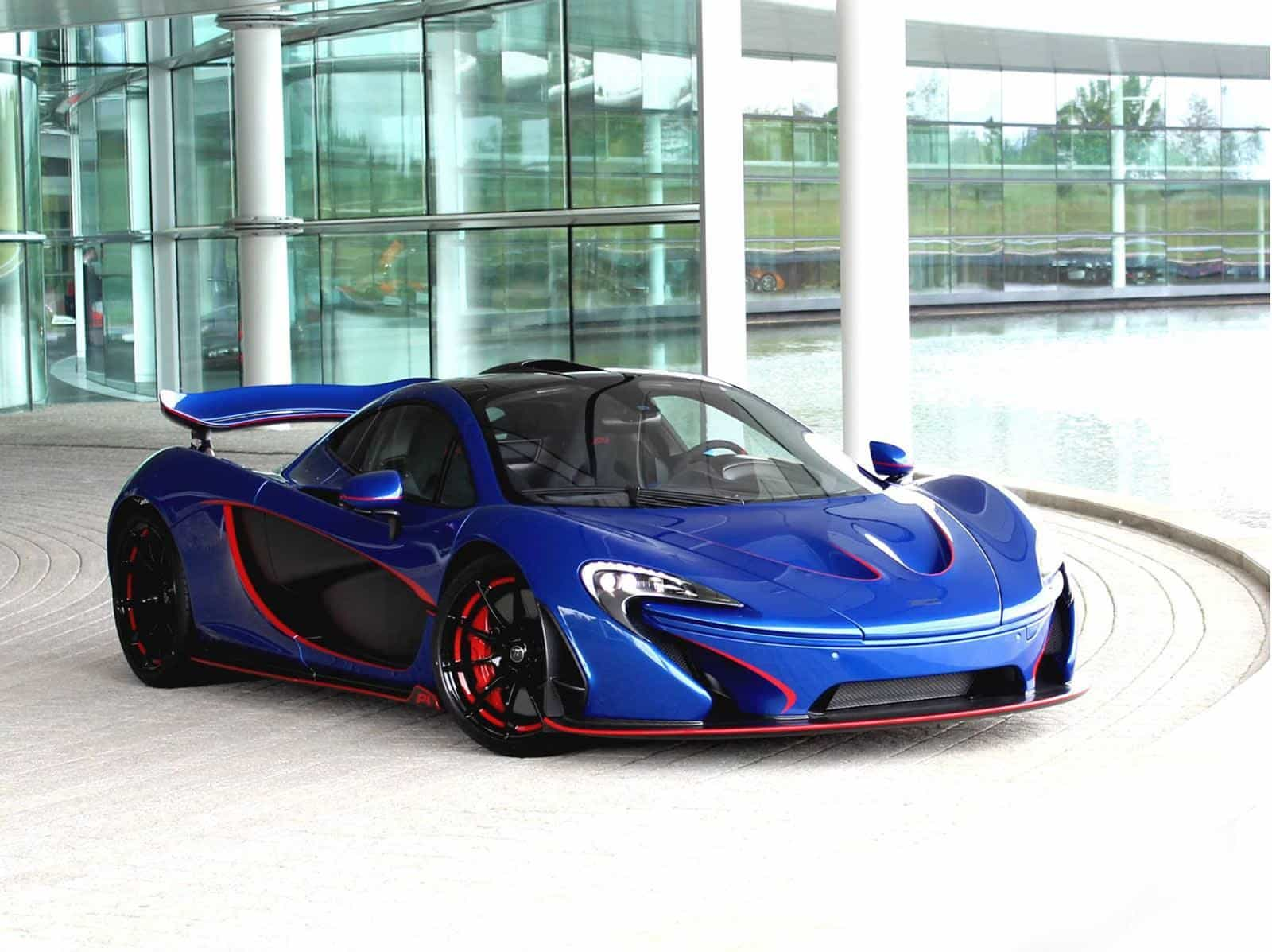 Glossy blue McLaren P1 unveiled by McLaren Special Operations