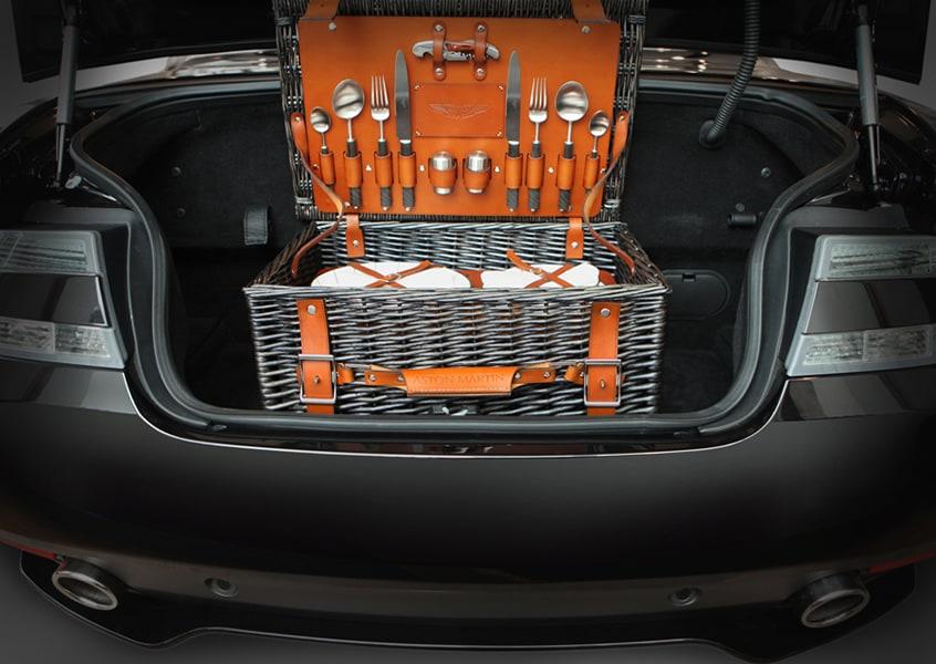 Aston Martin picnic hamper