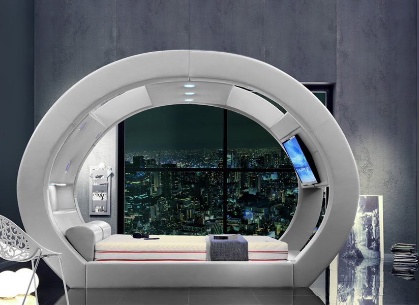 Watching TV From The Futuristic Eclipse Bed Looks Incredible